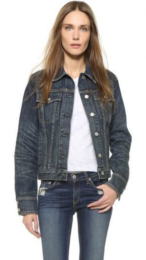 Джинсовая куртка Rag & Bone/JEAN. Цвет: поношенный синий