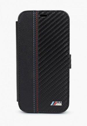 Чехол для iPhone BMW 12 mini (5.4), PU Smooth/Carbon effect Black. Цвет: черный