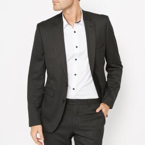 Пиджак костюмный, узкий покрой La Redoute Collections. Цвет: антрацит,темно-синий