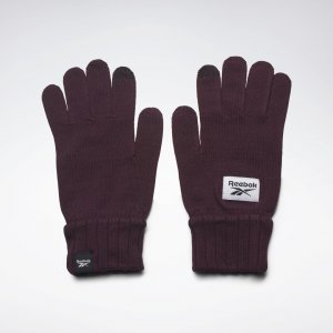 Перчатки Active Foundation Knit Reebok. Цвет: maroon
