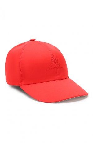 Текстильная бейсболка Loro Piana. Цвет: красный