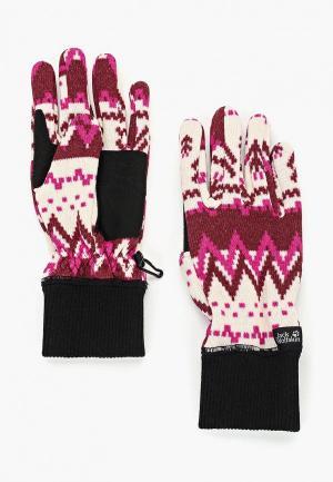 Перчатки Jack Wolfskin SCANDIC GLOVE WOMEN. Цвет: бордовый