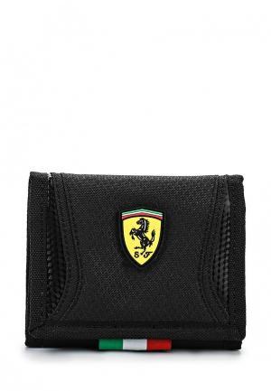 Кошелек Puma Ferrari Replica Wallet black. Цвет: черный