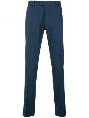 Классические брюки прямого кроя Etro. Цвет: синий
