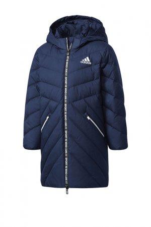 Пуховик Adidas LK J LL DOWN. Цвет: синий