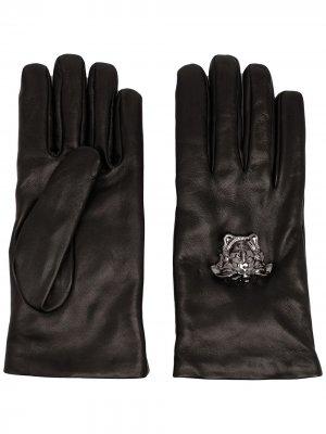 Перчатки La Medusa Versace. Цвет: черный