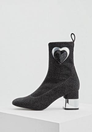 Ботильоны Love Moschino. Цвет: черный