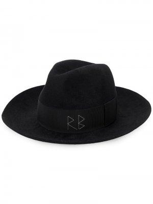 Шляпа с логотипом Ruslan Baginskiy. Цвет: черный