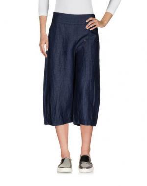 Джинсовые брюки-капри CREA CONCEPT. Цвет: синий