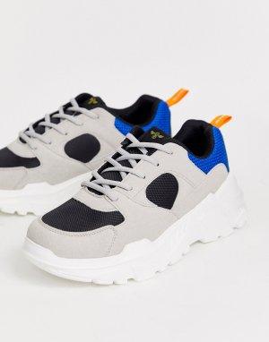 Серые кроссовки на массивной подошве -Мульти Creative Recreation