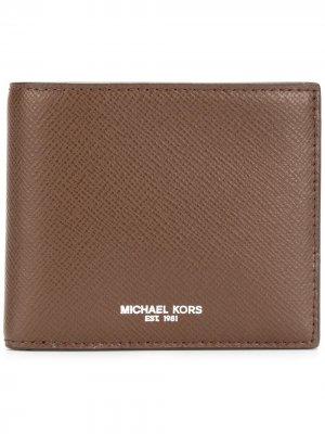 Кошелек с принтом логотипа Michael Kors. Цвет: коричневый