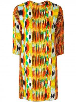 Платье-трапеция pre-owned с абстрактным принтом Céline. Цвет: разноцветный