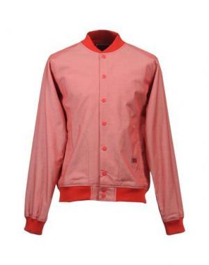 Куртка FRESHJIVE. Цвет: красный