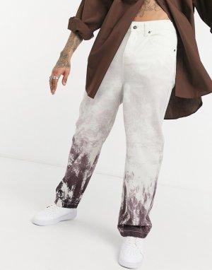 Расклешенные джинсы с принтом горы -Черный цвет Jaded London