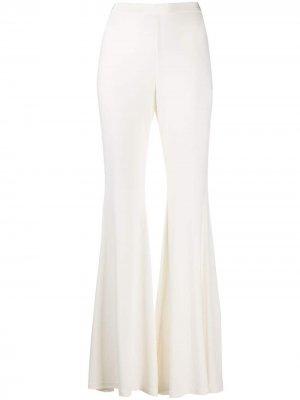 Расклешенные брюки с завышенной талией Amen. Цвет: белый