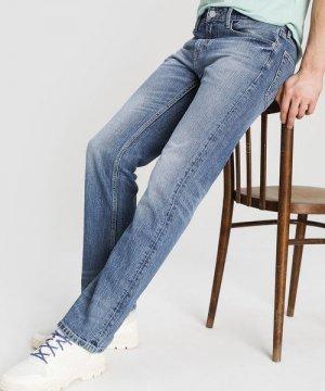 Светлые прямые джинсы O`Stin. Цвет: голубой