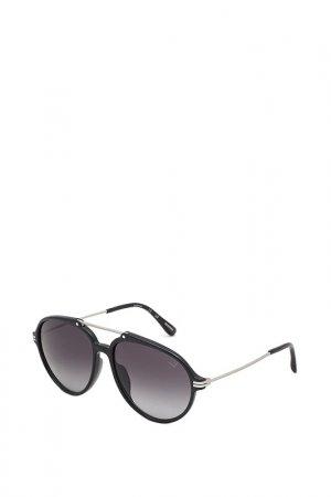 Очки солнцезащитные Dunhill. Цвет: серебряный