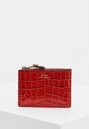 Кошелек Polo Ralph Lauren. Цвет: красный