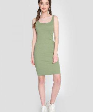 Базовое платье-майка O`Stin. Цвет: светлый хаки
