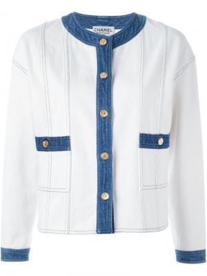 Джинсовая куртка Chanel Vintage. Цвет: белый