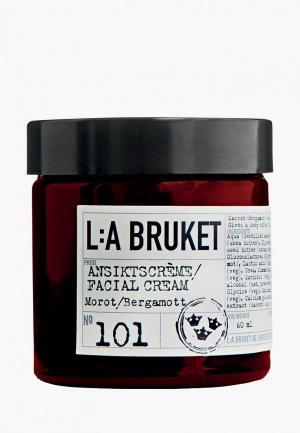 Крем для лица La Bruket MOROT/BERGAMOT - CARROT BERGAMOT ansikts creme/facial cream 50 мл. Цвет: прозрачный