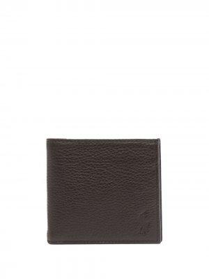 Бумажник с тисненым логотипом Polo Ralph Lauren. Цвет: коричневый