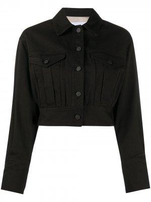 Укороченная джинсовая куртка на пуговицах Dondup. Цвет: черный