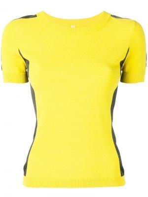 Приталенная футболка Antonio Marras. Цвет: желтый