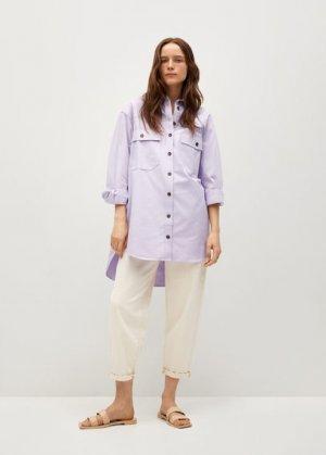 Верхняя рубашка из лиоцелла с карманами - Tana Mango. Цвет: сиреневый