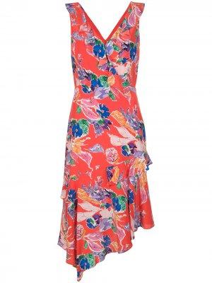 Платье Alexis с цветочным принтом Milly. Цвет: красный
