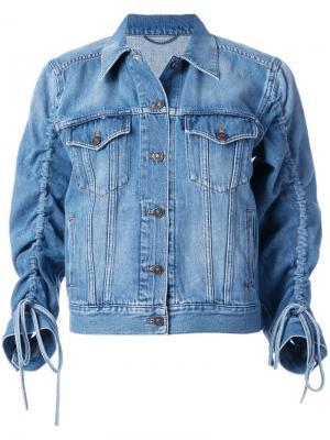 Джинсовая куртка с рукавами со сборками Kenzo. Цвет: синий