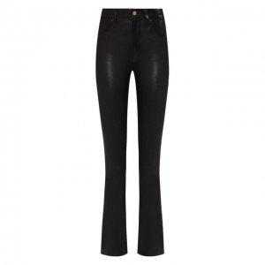 Кожаные брюки Frame Denim. Цвет: чёрный