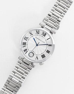 Часы-браслет с синими стрелками BCBG Max Azria-Серебристый MaxAzria