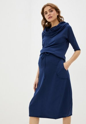 Платье Hunny mammy. Цвет: синий