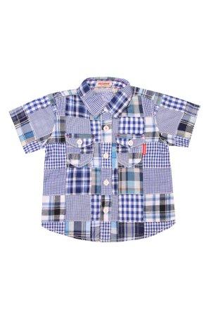 Хлопковая рубашка для мальчика MIKI HOUSE. Цвет: разноцветный