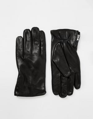 Кожаные перчатки Royal RepubliQ. Цвет: черный