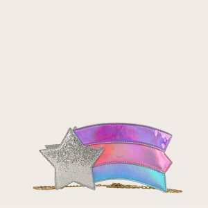 Сумка с цепочкой для девочек SHEIN. Цвет: многоцветный