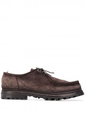 Round-toe lace-up shoes Officine Creative. Цвет: коричневый