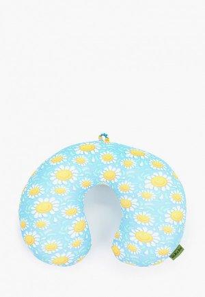 Подушка Gekoko для самолета. Цвет: голубой