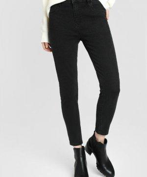 Зауженные чёрные джинсы O`Stin. Цвет: графитовый