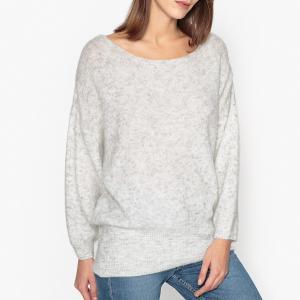 Пуловер с вырезом-лодочкой WOXILEN AMERICAN VINTAGE. Цвет: серый