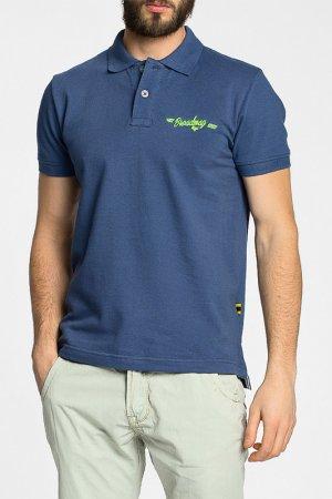 Рубашка-поло Broadway. Цвет: синий