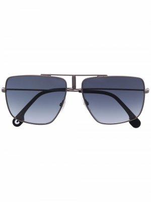 Солнцезащитные очки-авиаторы с эффектом градиента Carrera. Цвет: черный