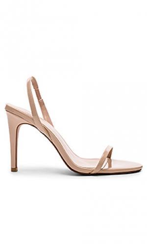 Туфли на каблуке с открытым носком becky RAYE. Цвет: беж