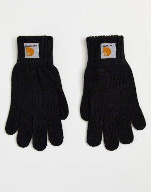 Черные перчатки Watch-Черный цвет Carhartt WIP