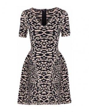 Короткое платье HERVÉ LÉGER. Цвет: черный