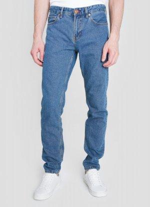 Базовые зауженные джинсы O`Stin. Цвет: светло-синий