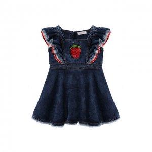 Платье Monnalisa. Цвет: синий