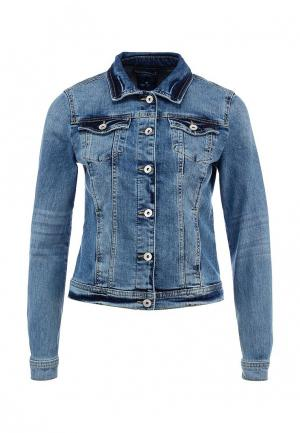 Куртка джинсовая Tom Tailor. Цвет: синий