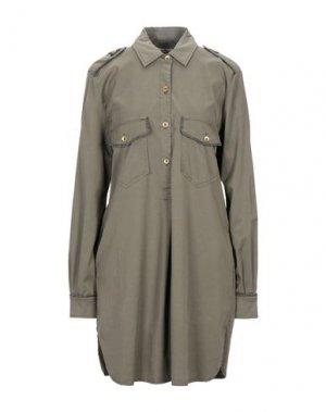 Короткое платье MASON'S. Цвет: зеленый-милитари